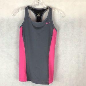 Pink/Grey Nike Dri-Fit Sports Tank Top 🛍